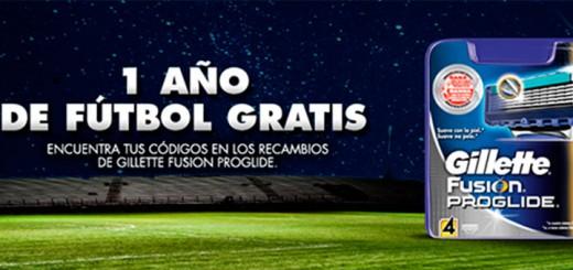 1 año de futbol gratis con Gillette