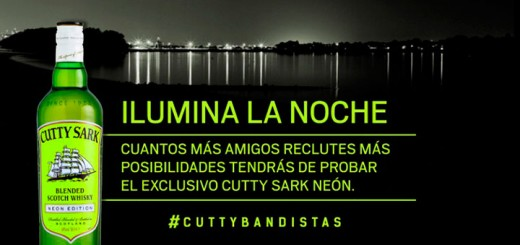 consigue una botella Cutty Sark Neón