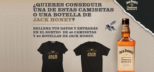sorteo de camisetas y botellas de jack honey