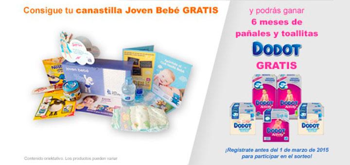 regalos y muestras gratis canastilla joven bebe