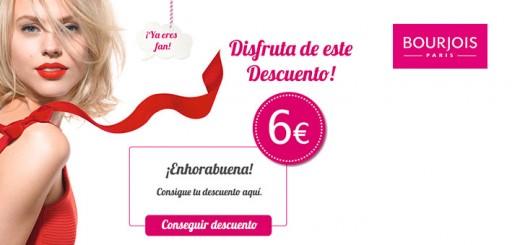 descuento de 6 euros en productos Bourjois