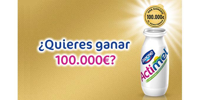 Gana euros con actimel muestras gratis y chollos for Emprunter 100 000 euros