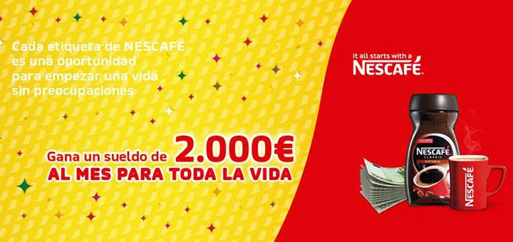 gana un sueldo para toda la vida con Nescafé