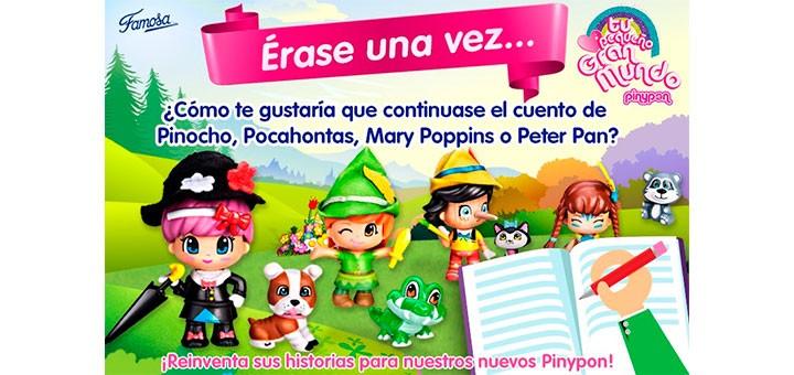Consigue 3 de los nuevos Pinypon cuentos