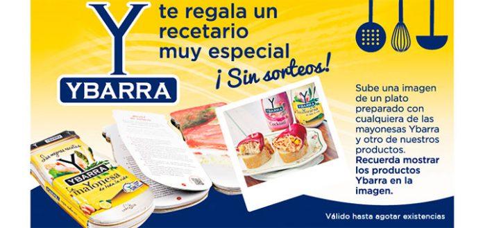 Consigue gratis un Recetario Mayonesa Ybarra