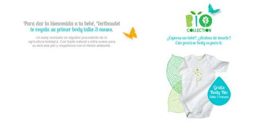 Consigue un body para tu bebé con Vertbaudet