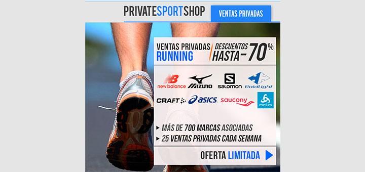 Descuentos de hasta 70% en Private Sport Shop