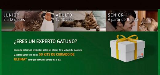 Gana un kit de cuidado Ultima para gatos