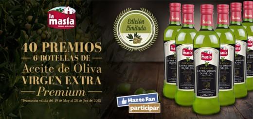 La Masía regala 40 lotes de aceite de oliva