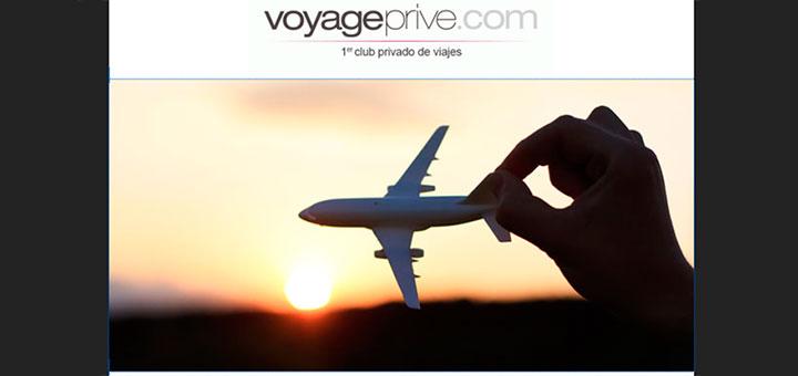 Ofertas de viajes con Voyage Privé