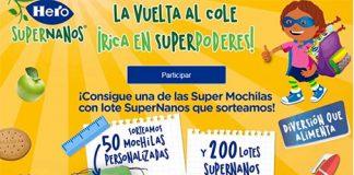 Hero SuperNanos sortea 50 mochilas