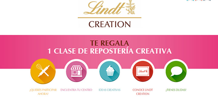 Lindt Creation te regala 1 clase de repostería