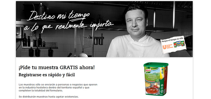Muestras gratis de Salsa Pomodoro Knorr