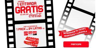Consigue 1 entrada de cine gratis con Coca Cola