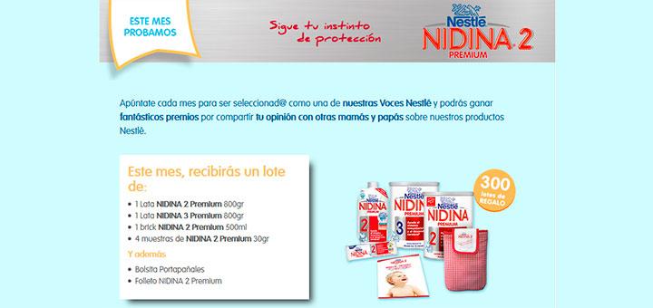 Consigue premios con Nidina 2 Premium