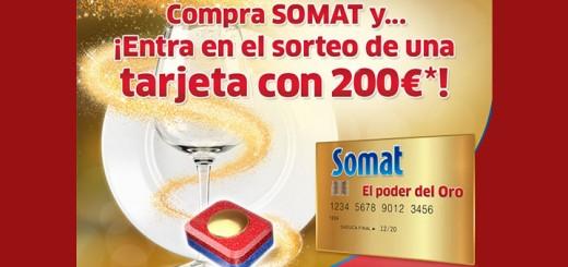 Consigue una tarjeta de 200 euros con Somat