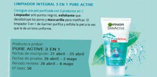 Prueba gratis limpiador integral de Garnier