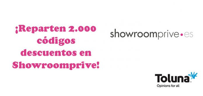 2.000 códigos descuentos en Showroomprive con Toluna