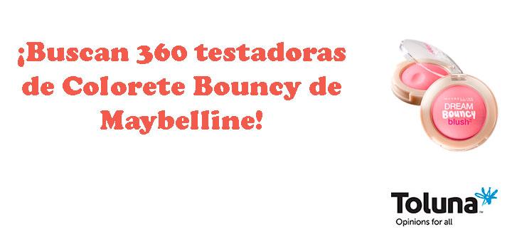 Buscan 360 testadoras de Colorete Bouncy de Maybelline