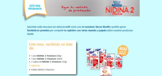 Prueba gratis Nidina Premium 2 con Nestlé