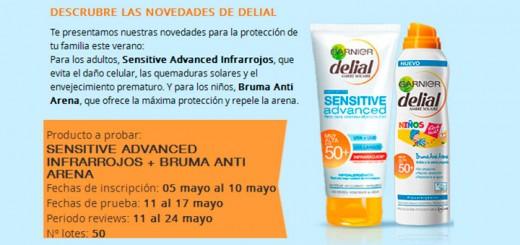 Prueba gratis Sensitive Advanced Infrarrojos Delial