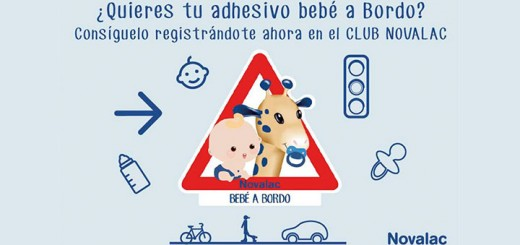 Consigue un adhesivo Bebé a Bordo con Novalac