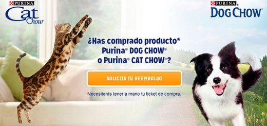 Prueba gratis Purina Cat Chow y Purina Dog Chow