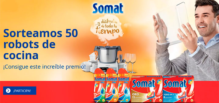 Somat sortea 50 robots de cocina muestras gratis y chollos for Mejor robot de cocina 2016