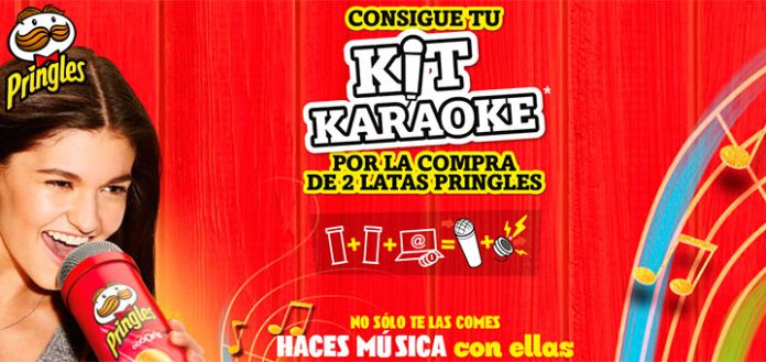 Consigue Kit Karaoke con Pringles