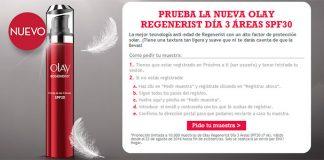 10.000 muestras gratis de Olay Regenerist Día 3 Áreas