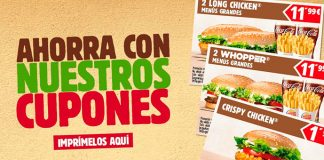 Cupones descuento en Burger King