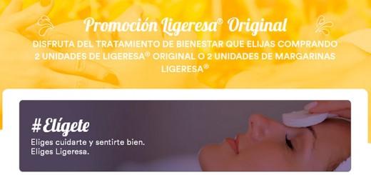 Disfruta gratis de un tratamiento de bienestar con Ligeresa