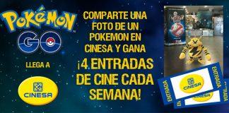 Gana con Pokemon Go y Cinesa entradas de cine