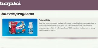 Conviértete en testadora de Actimel Kids con Bopki