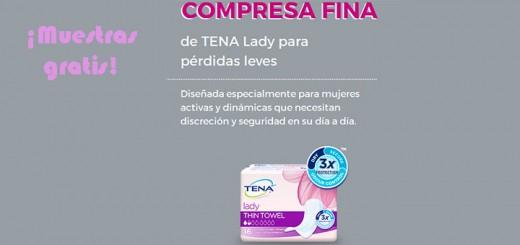 Muestras gratis de compresa fina de TENA Lady