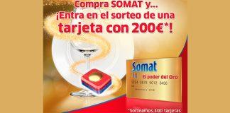 Sortean 100 tarjetas Somat de 200€