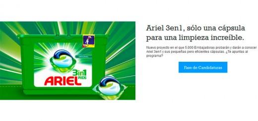 Buscan 5.000 embajadoras de Ariel 3 en 1