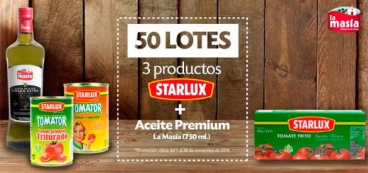 Gana un lote de productos Starlux & La Masía