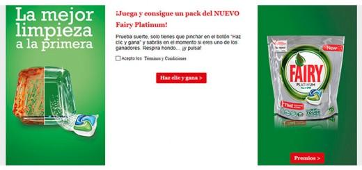 Gana un pack del nuevo Fairy Platinum