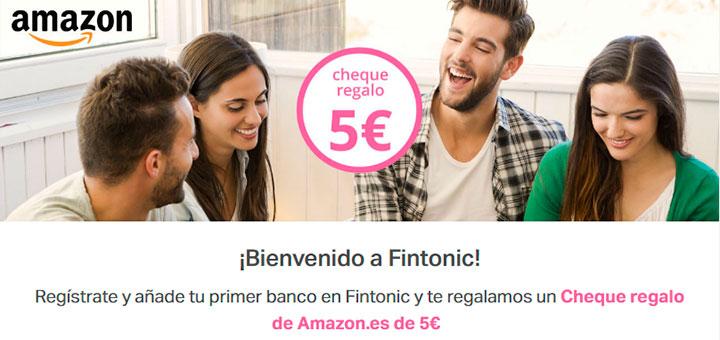 Gana 5€ en Amazon con Fintonic