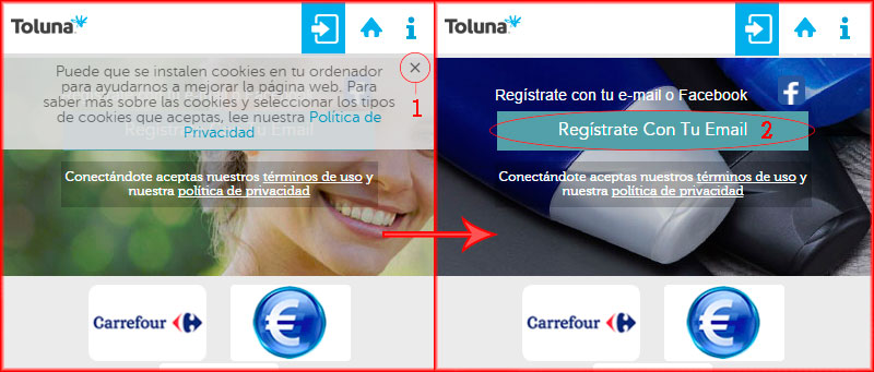 pasos para registrarse en Toluna