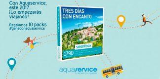 "Aquaservice regala 10 packs de ""Tres días con encanto"""