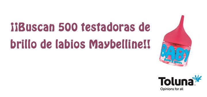 Buscan testadoras de brillo de labios Maybelline