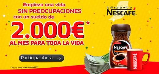 Consigue un sueldo de 2.000€ con Nescafé