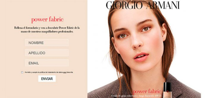 Muestras gratis de maquillaje Power Fabric