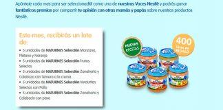 Consigue un lote de productos Nestlé Bebé