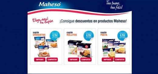 Cupones descuentos en productos Maheso
