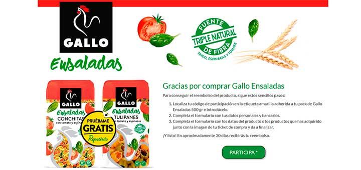 Prueba gratis Gallo Ensaladas