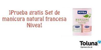 Prueba gratis Set de manicura natural francesa Nivea