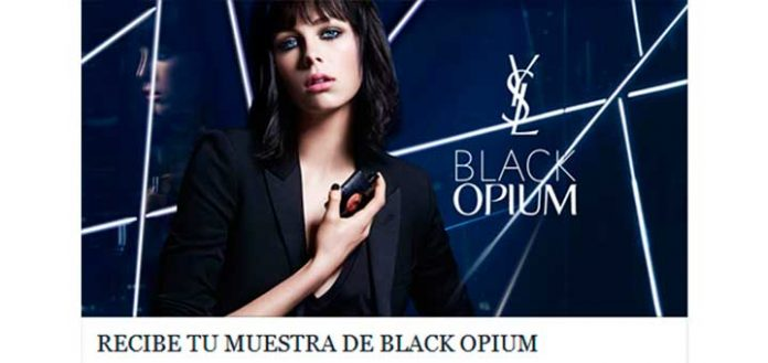 Regalan Muestras gratis de Black Opium